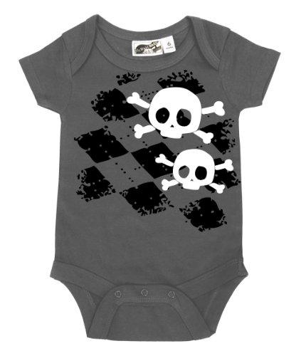 Argyle Skull One Piece - My Baby Rocks