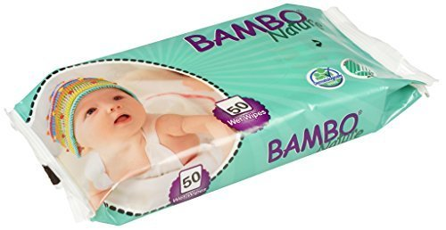 Bambo Nature Eco-sensitive Fragrance-free Baby Wipes 6.25 X 7.5 50 Count, (Pack of 6)