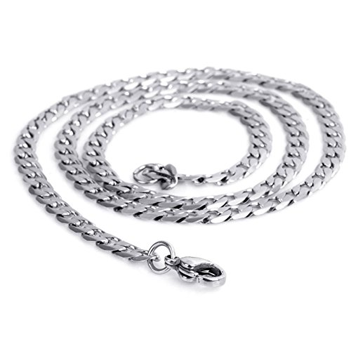 JDZ Amulets Womens Mens Scattered Stainless Steel Necklace Chain Link Jewelry