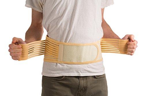 Ziraki Adjustable Lumbar Lower Back Support Brace Belt for Lose Weight Trainer, Beige, X-Large