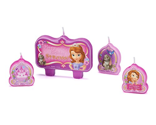 American Greetings Sofia the First Birthday Candles, 4 Count, Party Supplies Novelty, Multicolored