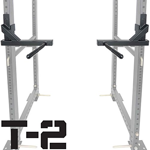 Titan Dip Attachment Bars for Power Rack Safety Bars Strength Training Workout