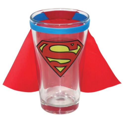 Icup - Superman Caped Logo Pint Glass