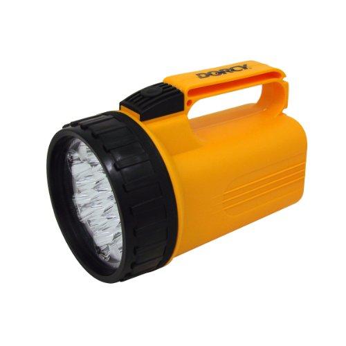 Dorcy 41-1046 LED Flashlight Lantern with 6-Volt Battery and Nylon Lanyard, 40-Lumens, Yellow Finish