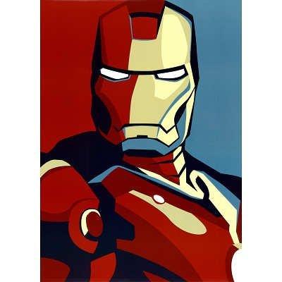 Iron Man 2 Movie (Artistic Stylized Iron Man) Art Poster Print