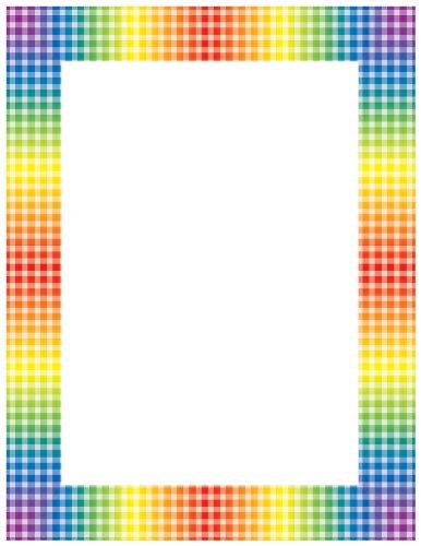 Scholastic TF3535 Rainbow Gingham Printer Paper