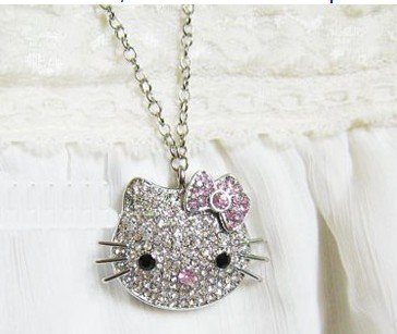 High Quality 16 gb Hello Kitty Crystal Jewelry USB Flash Memory Drive Necklace
