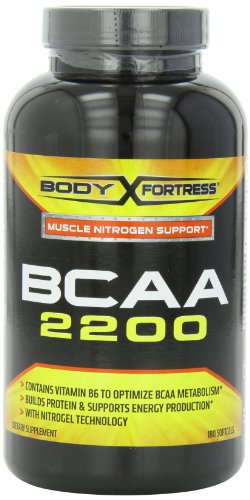 Body Fortress BCAA 2200 Softgels, 180 Count