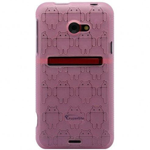 Pink Androidified TPU Case for the HTC EVO 4G LTE