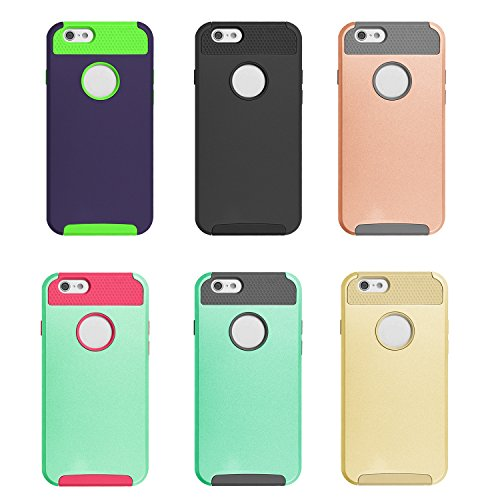 Xinda Shockproof Dual Layer TPU Hybrid Rugged Armor Pc Slim Hard Back Case Cover for Iphone 6 6s 4.7