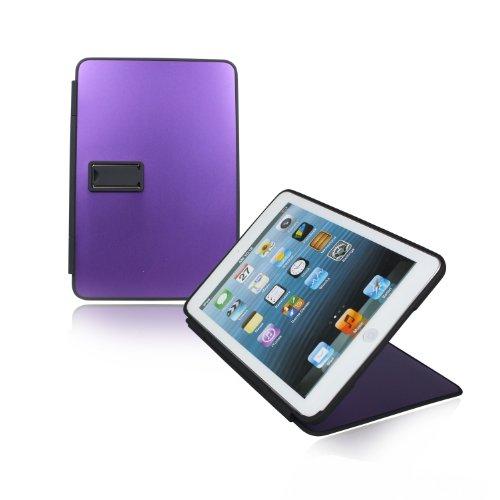Volutz aluminium case with smooth surface in metallic design for Ipad mini with bonus accesories - in purple