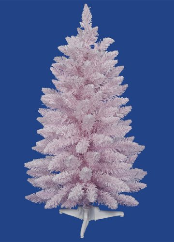 3' Flocked Cupcake Pink Artificial Spruce Christmas Tree - Unlit