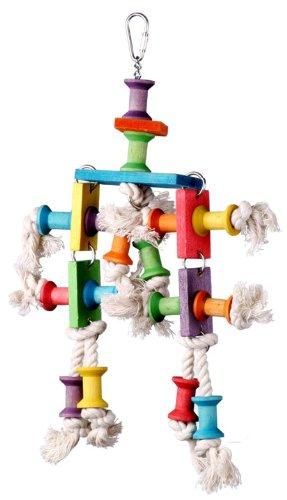 Super Bird Creations 13 by 8-Inch Dancing Spools Bird Toy, Medium