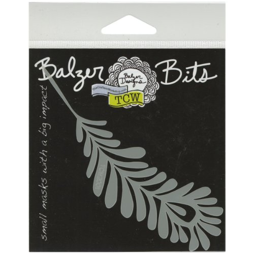 Crafters Workshop Balzer Bits Mask, 4 by 4-Inch, Single Feather