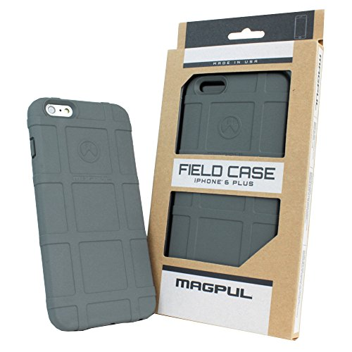 iPhone 6s Plus Case, iPhone 6 Plus Case, Magpul [Field] Polymer Case Cover MAG485 Retail Packaging for Apple iPhone 6 Plus/6S Plus 5.5 inch + TJS Tempered Glass Screen Protector (Grey)