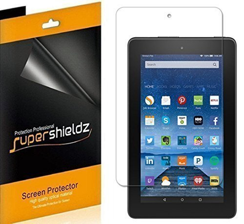 [3-Pack] SUPERSHIELDZ- Anti-Bubble HD Clear Screen Protector For Amazon Fire 7 7 inch Tablet [2015 Released] + Lifetime Replacements Warranty - Retail Packaging