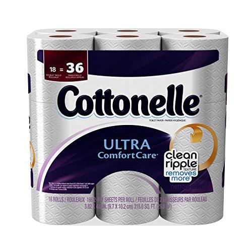 Cottonelle Toilet Paper Ultra Comfort Care Double Rolls - 18 CT