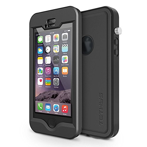 Tethys Waterproof Protective Cases Cover for Apple iPhone 5S, 5 - (Black)