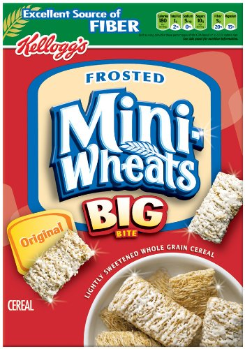 Frosted Mini-Wheats Big-Bite Cereal, 16-Ounce Boxes (Pack of 4)