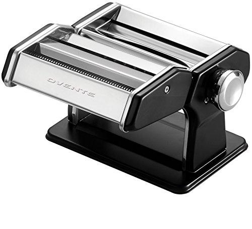 Ovente PA515B Vintage Stainless Steel Pasta Maker, 150mm, Matte Black