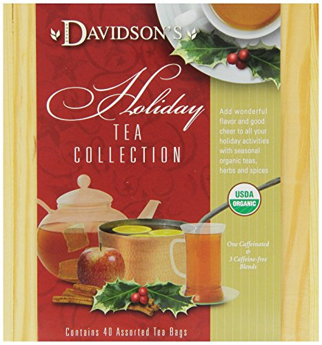 Davidson's Tea Holiday Mini Tea Chest, 40 Assorted teabags, (Pack of 2)