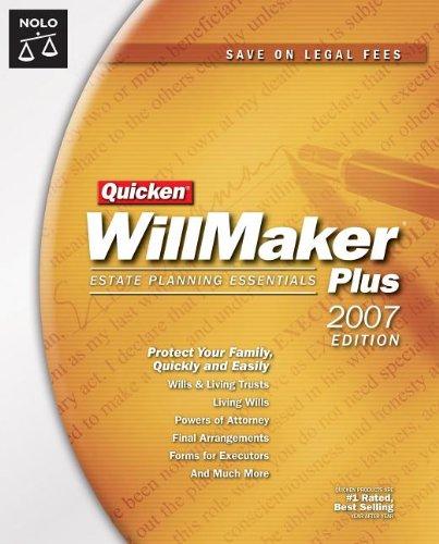 Quicken Willmaker Plus 2007 Edition: Estate Planning Essentials (Book with CD-ROM)
