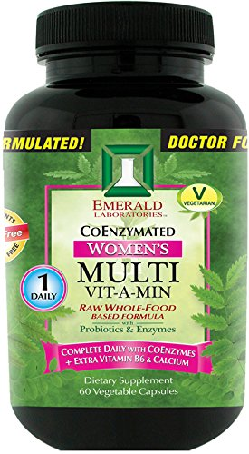 Emerald Laboratories - Women's Multi Vit-A-Min (1-Daily) - Complete Daily with CoEnzymes + Extra Vitamin B6 & Calcium - 60 Vegetable Capsules