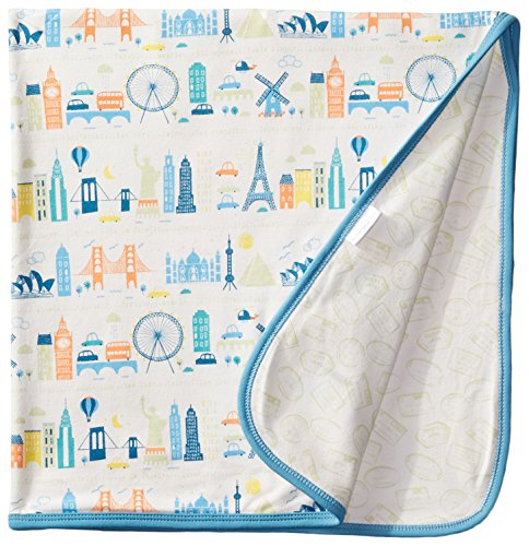 Magnificent Baby World Cities Blanket, Blue, One Size