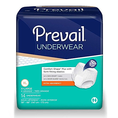 Prevail Underwear, Extra Absorbency, X-Large, Case/56 (4/14s)