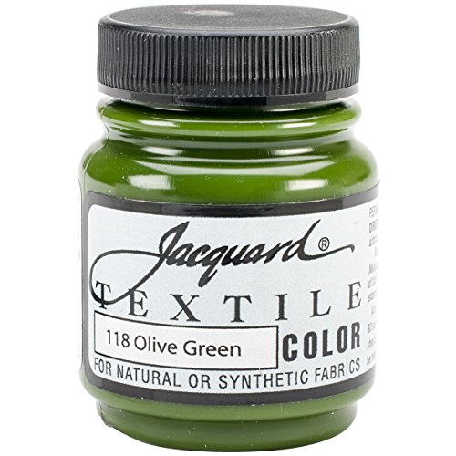Jacquard Products Textile Color Fabric Paint 2.25-Ounce, Olive Green