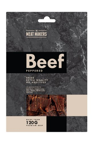 PEPPERED - GOURMET BEEF JERKY 40g (pack of 6)