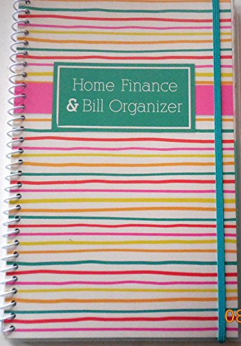 1 X Bill Organizer & Home Finance with Pockets (Stripes)