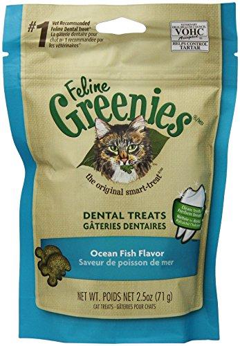 GREENIES 6-Pack Felines Greenies, Ocean Fish, 15-Ounce