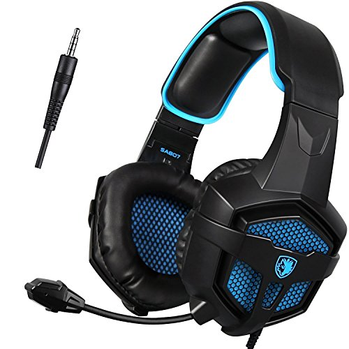 [2016 SADES SA-807 New Released Multi-PlatformNew Xbox one PS4 Gaming Headset ], Gaming Headsets Headphones For New Xbox one PS4 PC Laptop Mac iPad iPod (Black&Blue)