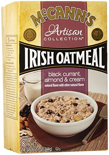 McCann's Artisan Instant Oatmeal - Black Current And Almonds - 12.1 Ounces - 8 Count
