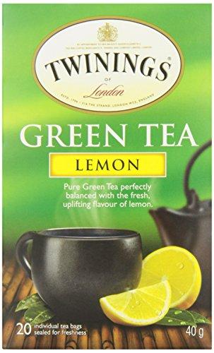 Twinings Teabags Green Tea and Lemon, 20ea (Pack of 6)