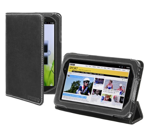 Cover-Up Lenovo IdeaPad A1 / A1107 7-inch Tablet Nappa Leather Case (Prism Stand) - Black