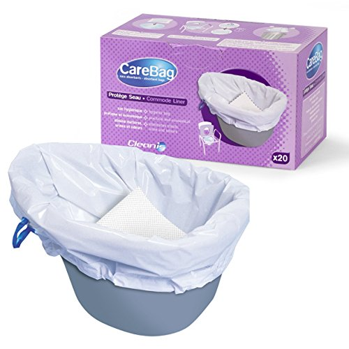 Carebag Commode Liners with Super Absorbent Pad, 20 bags