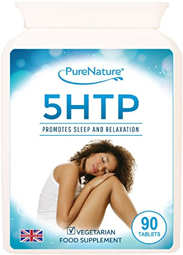PURE 5-HTP 300mg Daily 5HTP Tablets- 4 Times Stronger to Support Sleep Mood Anxiety Diet-100% Natural Serotonin From Griffonia Extract -100% Money Back Guarantee-Made to GMP Standards in UK -5 Star Rated-Suitable for Vegetarians & Vegans-FREE UK DELIVERY