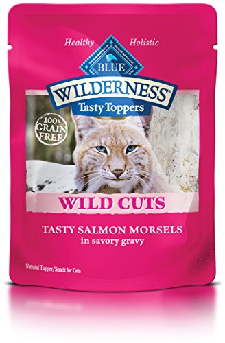 Blue Buffalo Wild Cuts Tasty Toppers Tasty Salmon Morsels Savory Gravy Wet Cat Food, Pack of 24, 3 oz.
