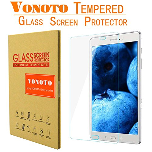 VONOTO Samsung Galaxy Tab A 9.7 (2015) Samsung SM-T550 T550 [Tempered Glass Screen Protector] 0.3mm 9H Thickness Tempered Glass Screen Protector for Samsung Galaxy Tab A 9.7 T550 (VONOTO Warranty,Fast Shippment,and Fulfilled by Amazon) (Samsung Galaxy Tab A 9.7 T550)