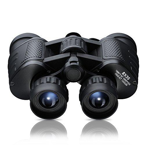 [Super Advanced Version]Pictek Wide Angle Binocular 8x35mm Waterproof Binoculars Telescope with Neck Strap and Bag, 8x High Power Magnification,Black