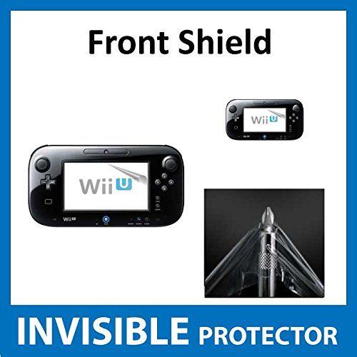 Nintendo Wii U Controller Front INVISIBLE Screen Protector Film (Front Shield included) Military Grade Protection Exclusive to ACE CASE