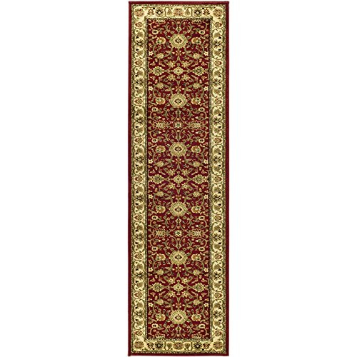 Safavieh Lyndhurst Collection LNH212F Red and Ivory Runner, 2 feet 3 inches by 8 feet (2'3 x 8')