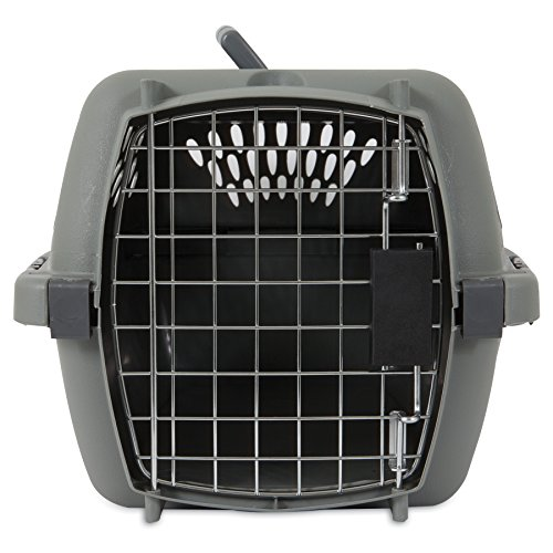 Aspen Pet Porter Traditional Kennel, For Pets Up To 10 pounds and Under, Light Gray