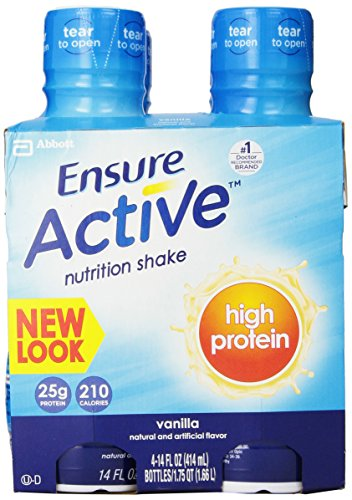 Ensure Active High Protein Nutrition Shake, Vanilla, 14-Ounce (Pack of 12)