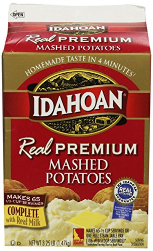 Idahoan Real Mashed Gable Carton, Premium, 52 Ounce