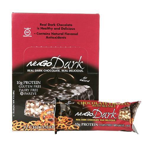 NuGo Nutrition Bar - Dark Chocolate Pretzel - 1.76 oz - Case of 12 NuGo Nutritio