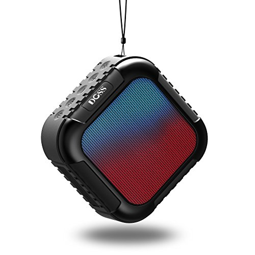 DOSS MagicBox Wireless Portable Bluetooth Speakers with High-Definition Sound Quality and Superior Bass,8 Hours playtime,Handsfree support iPhone,iPad,Samsung,laptop and More devices[Black]