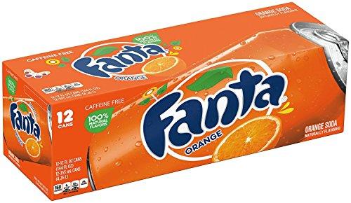 Fanta Orange Fridge Pack Cans, 12 Count, 12 fl oz